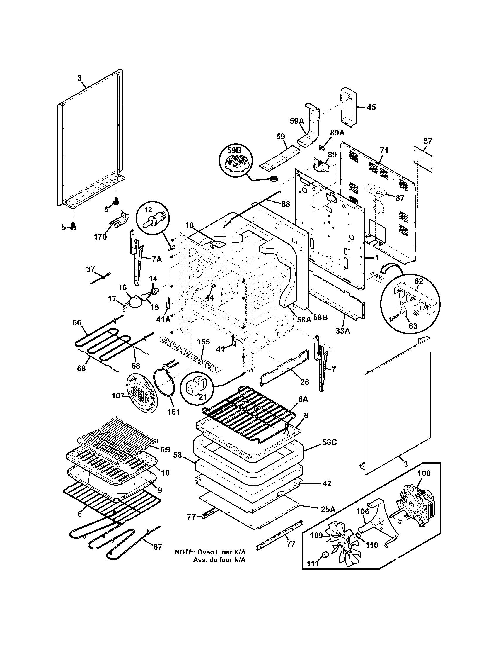 Frigidaire Fefl89cca Electric Range Timer
