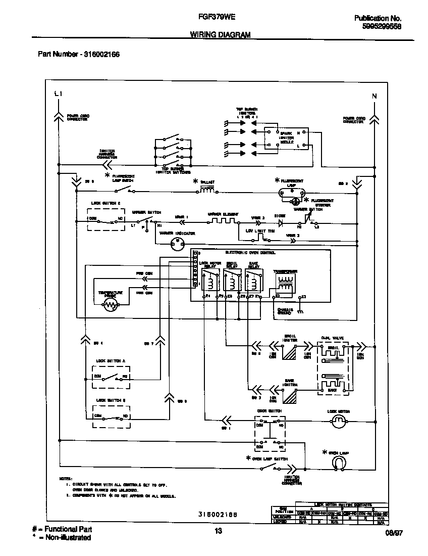 medium resolution of frigidaire gallery refrigerator wiring diagram wiring diagram center frigidaire fgf379wecf gas range timer stove clocks and