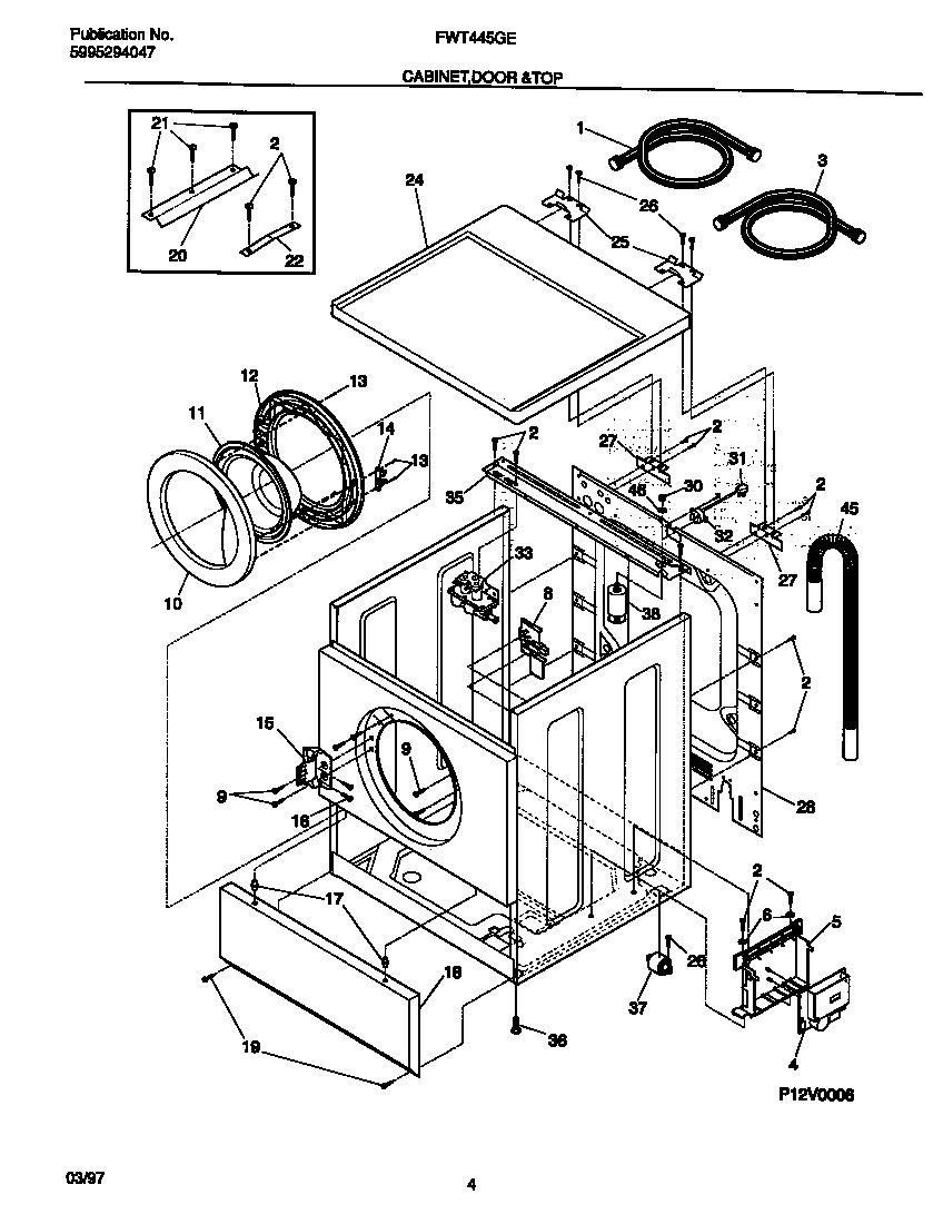 Whirlpool Washing Machine Motor Replacement Parts Diagram