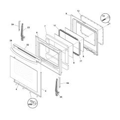 Oven Heating Element Wiring Diagram Trailer Frigidaire Glefm397dsb Electric Range Timer Stove Clocks