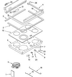 glp85800 free standing electric range cooktop parts diagram [ 3348 x 4623 Pixel ]