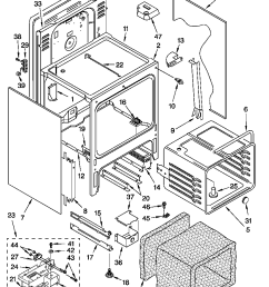 gy396lxgq4 electric range oven chassis parts diagram [ 848 x 1155 Pixel ]