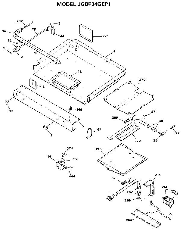 ge gas range schematic