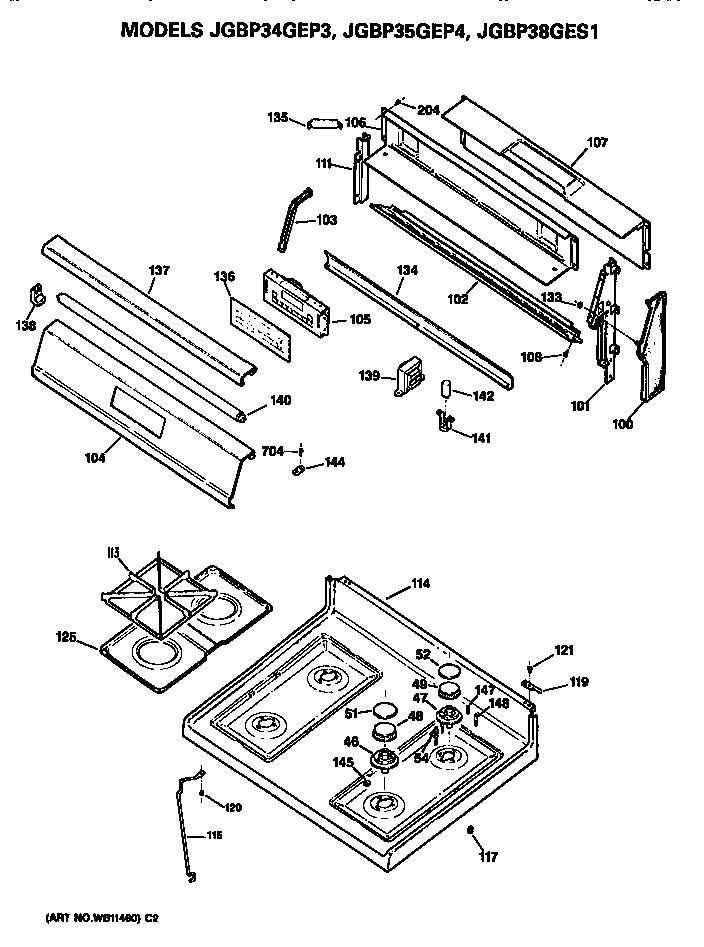 wiring diagram for ge stove burners