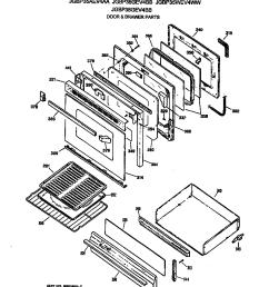 jgbp35wev4ww gas range door drawer parts diagram [ 848 x 970 Pixel ]