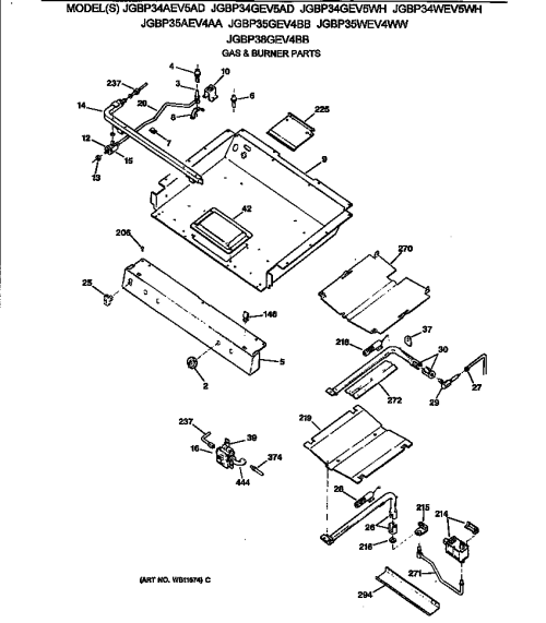 small resolution of jgbp35wev4ww gas range gas burner parts diagram