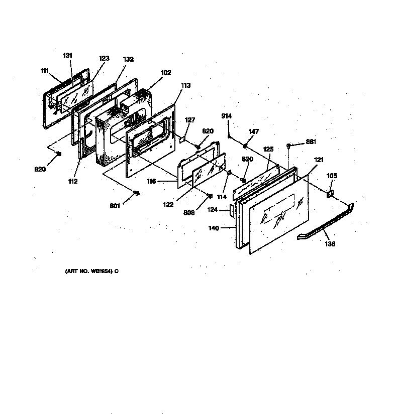 General Electric JGSP40AET1AA Gas Slide-In Range Timer