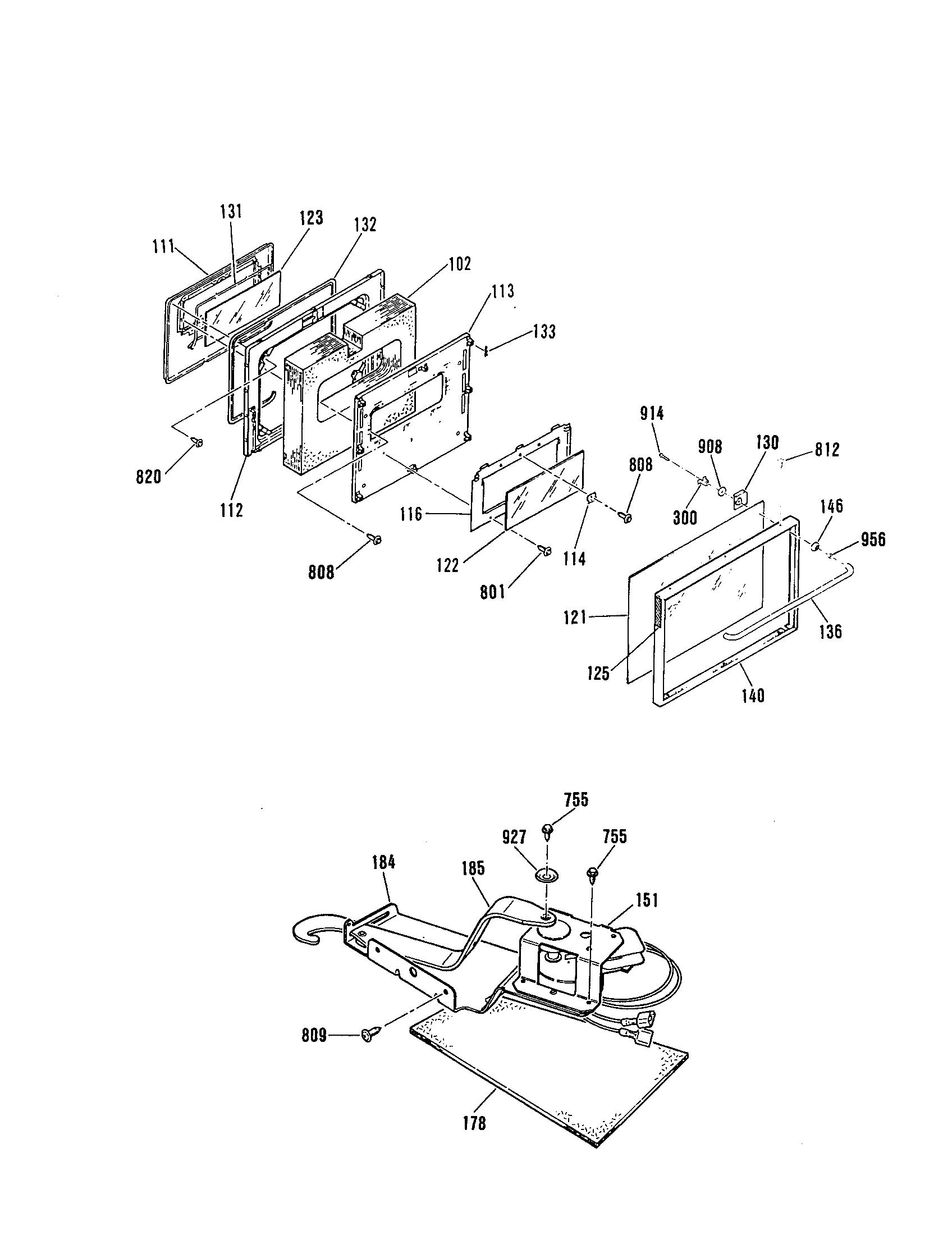 jsp28gp range door latch parts diagram