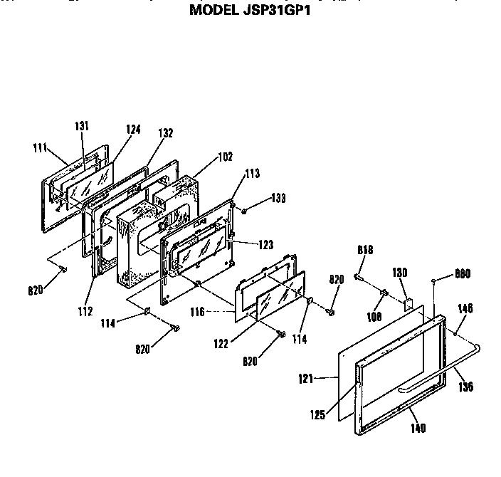 General Electric JSP31GP1 Free-Standing / Drop-in Range