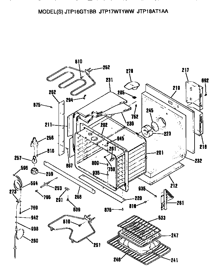ge oven diagram