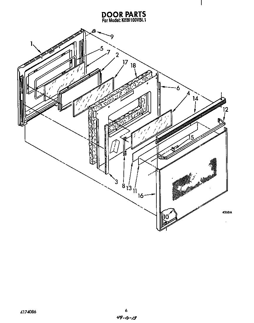 medium resolution of kebi100vbl electric built in oven door parts diagram wiring harness parts diagram