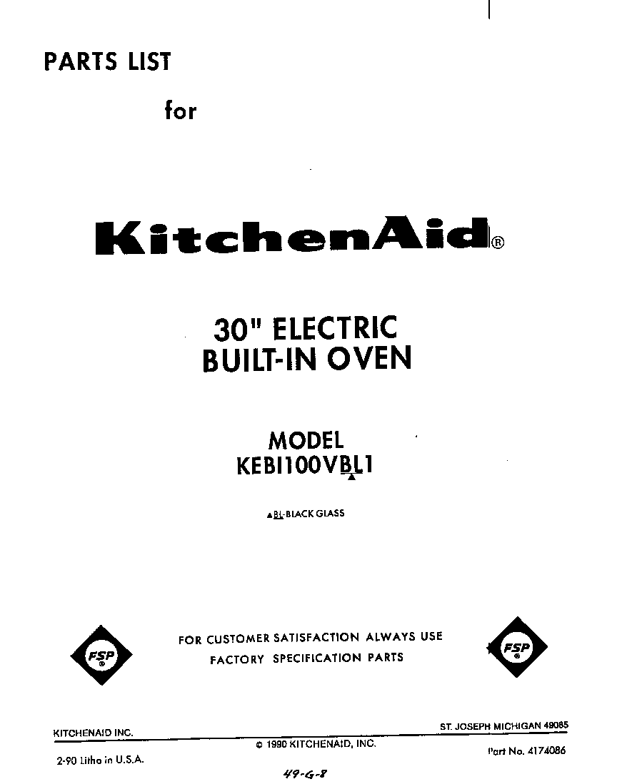 medium resolution of kebi100vbl electric built in oven front cover parts diagram