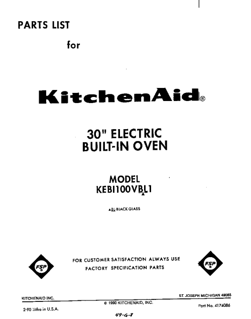 small resolution of kebi100vbl electric built in oven front cover parts diagram