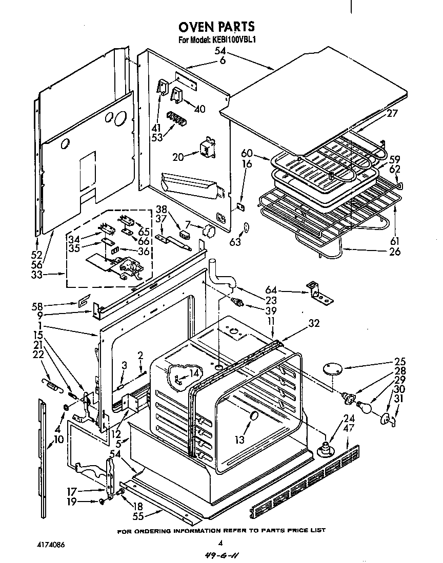 medium resolution of kebi100vbl electric built in oven oven parts diagram