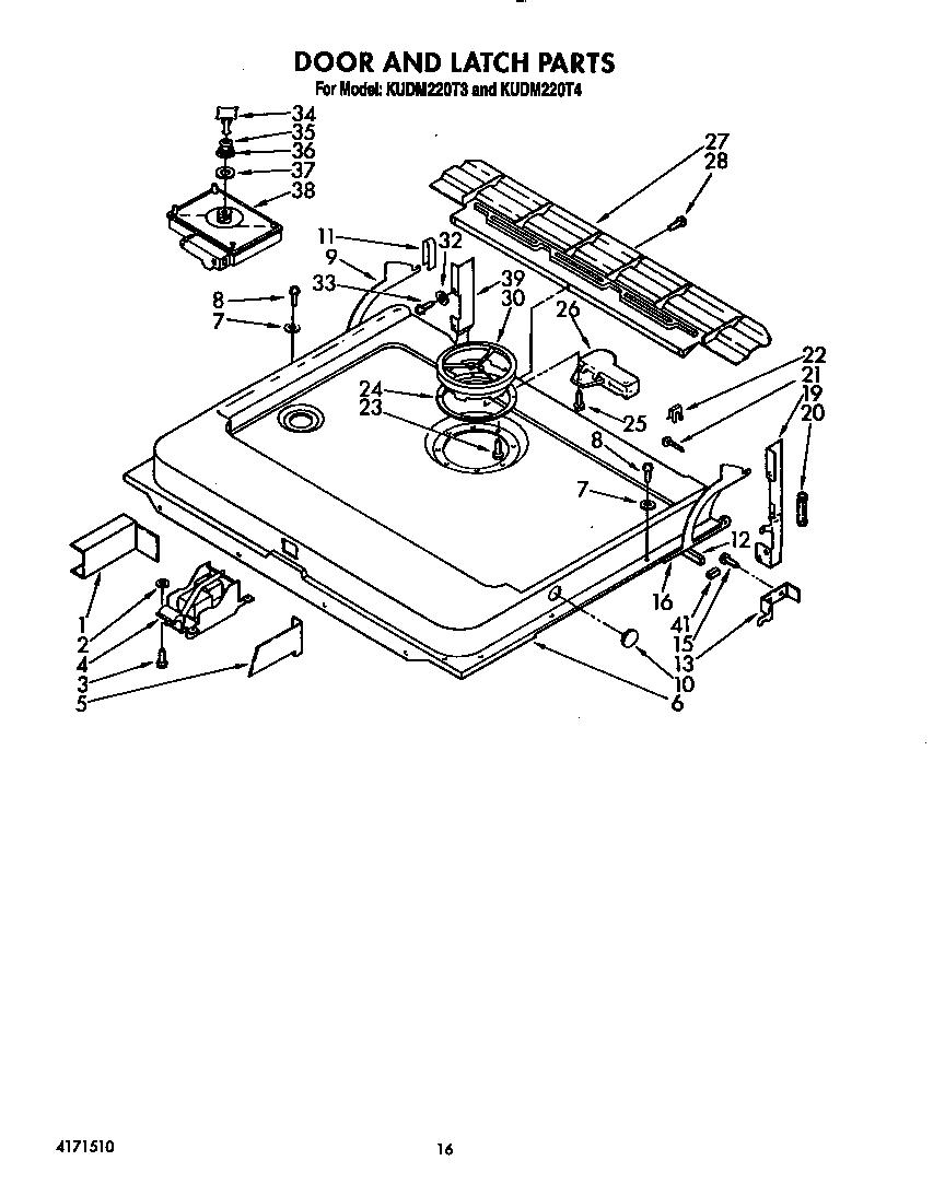 Kitchenaid Repair Manual Dishwasher. kitchenaid model