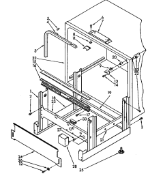 kudm220t4 dishwasher frame and tank parts diagram [ 864 x 1089 Pixel ]