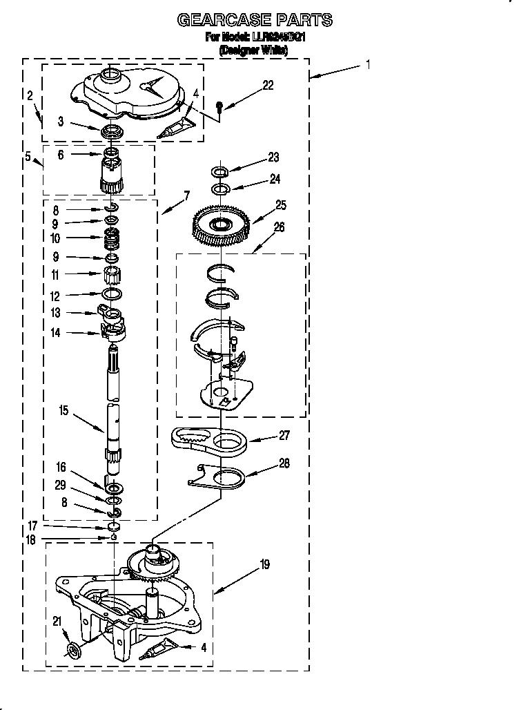 Whirlpool Cabrio Washer Gearcase