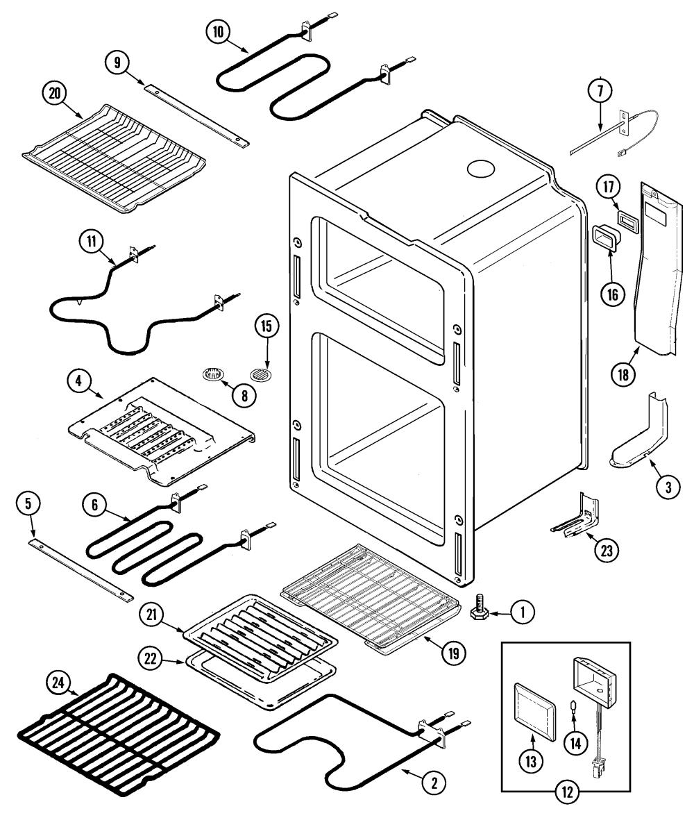 medium resolution of oven parts diagram