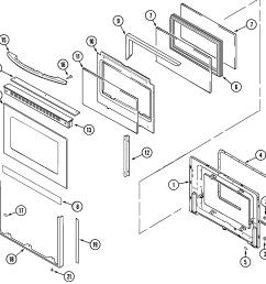 mer6772baw range door lower bab baq baw parts diagram wiring information parts diagram [ 2221 x 2147 Pixel ]