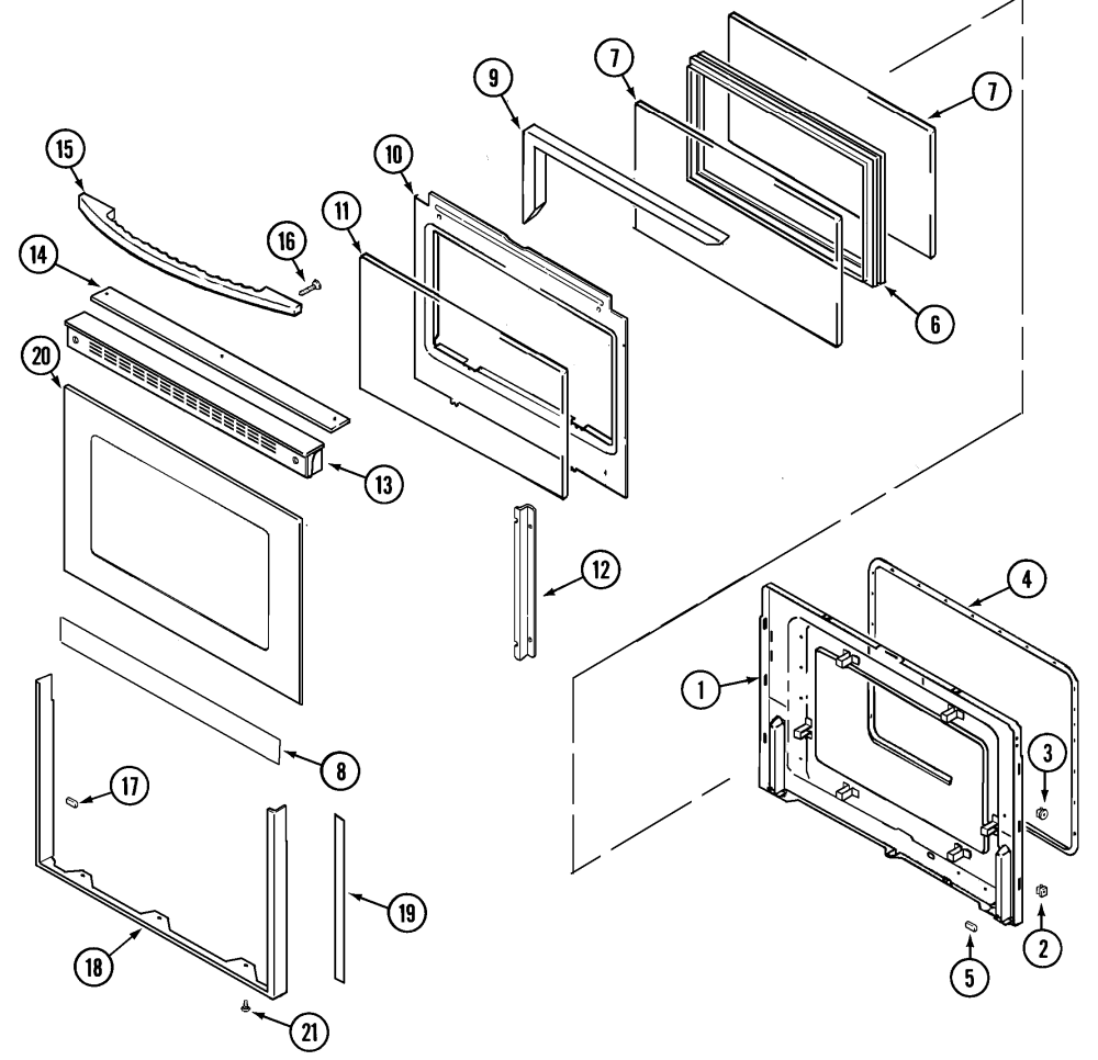 medium resolution of mer6772baw range door lower bab baq baw parts diagram wiring information parts diagram