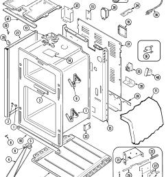 mer6772bcb range body parts diagram oven parts diagram [ 2250 x 2764 Pixel ]