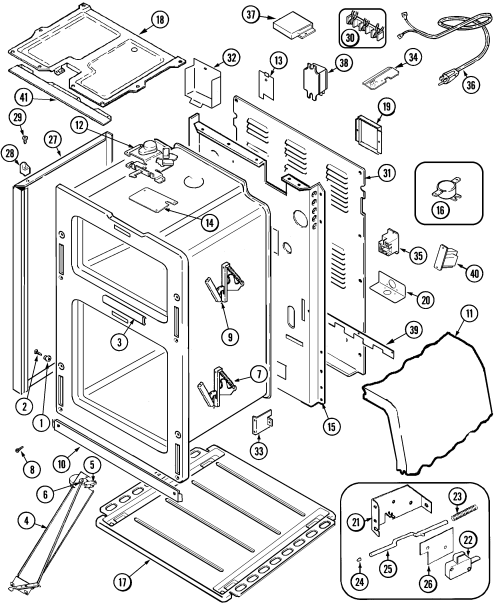 small resolution of mer6772bcb range body parts diagram oven parts diagram