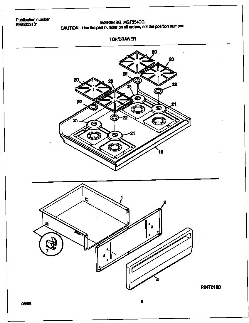 medium resolution of mgf354cgsc gas range top drawer parts diagram