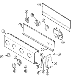 pav2000aww washer control panel parts diagram [ 1941 x 2025 Pixel ]