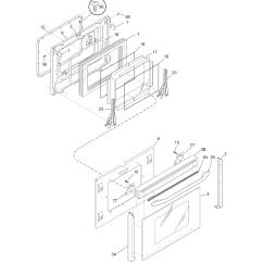 Electrolux Dishwasher Wiring Diagram Leviton Dimmer Pglef385cb1 Electric Range Timer Stove Clocks