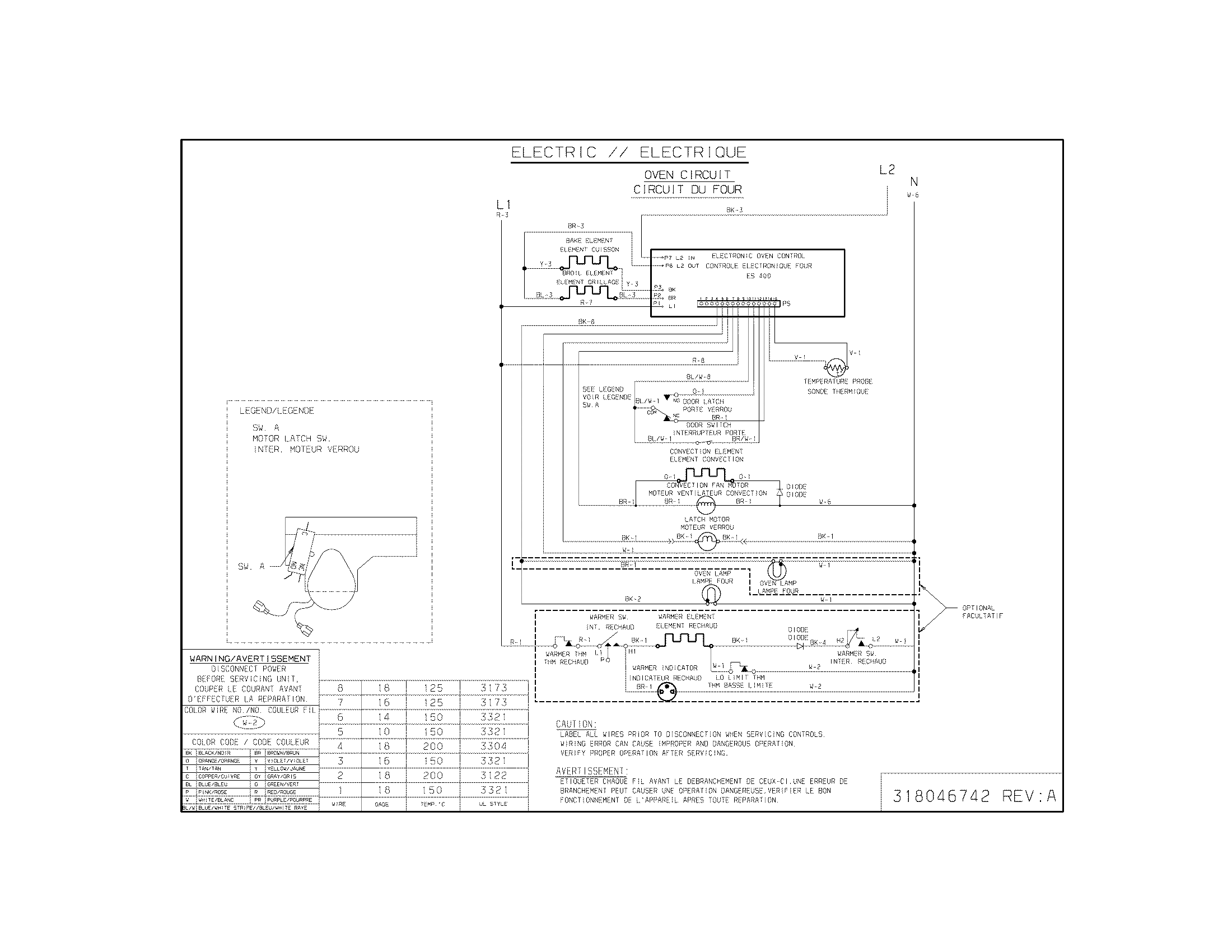 wiring diagram for cooktop