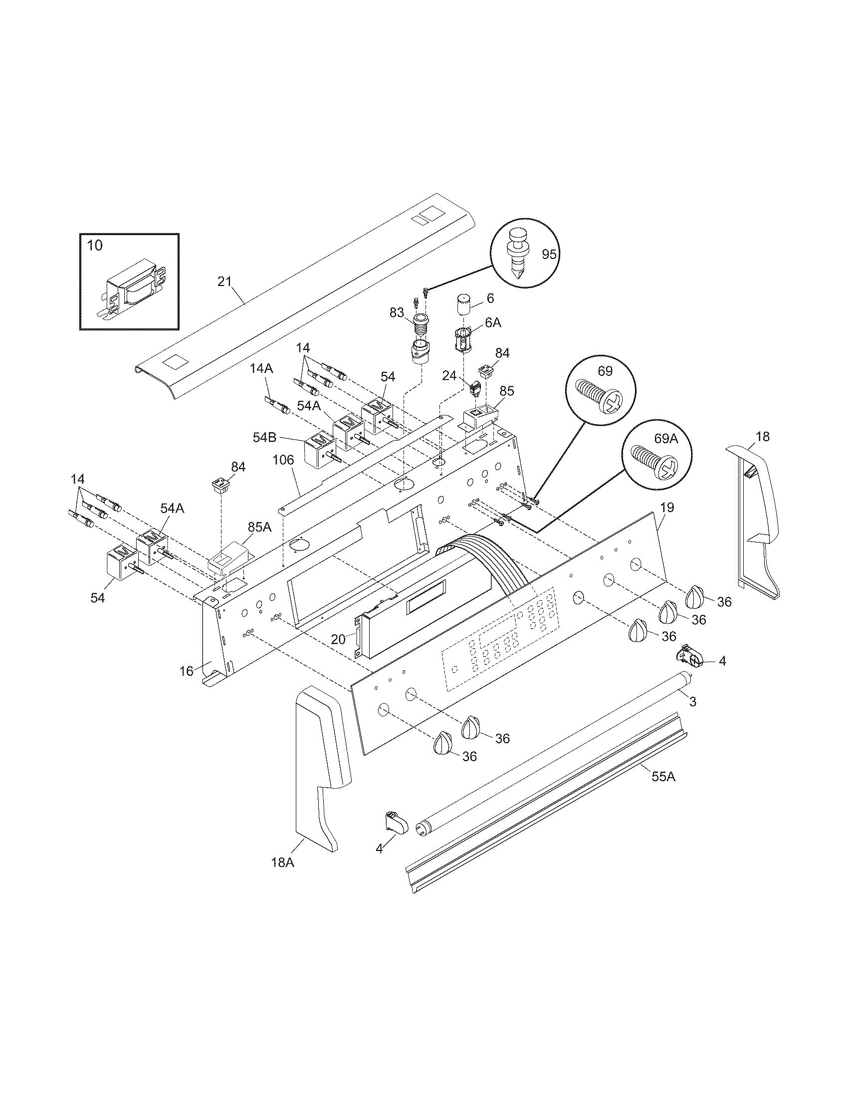 Frigidaire Pglef387cs2 Electric Range Timer