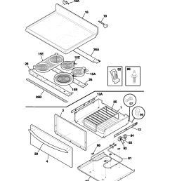 plef398aca electric range top drawer parts diagram [ 1700 x 2200 Pixel ]