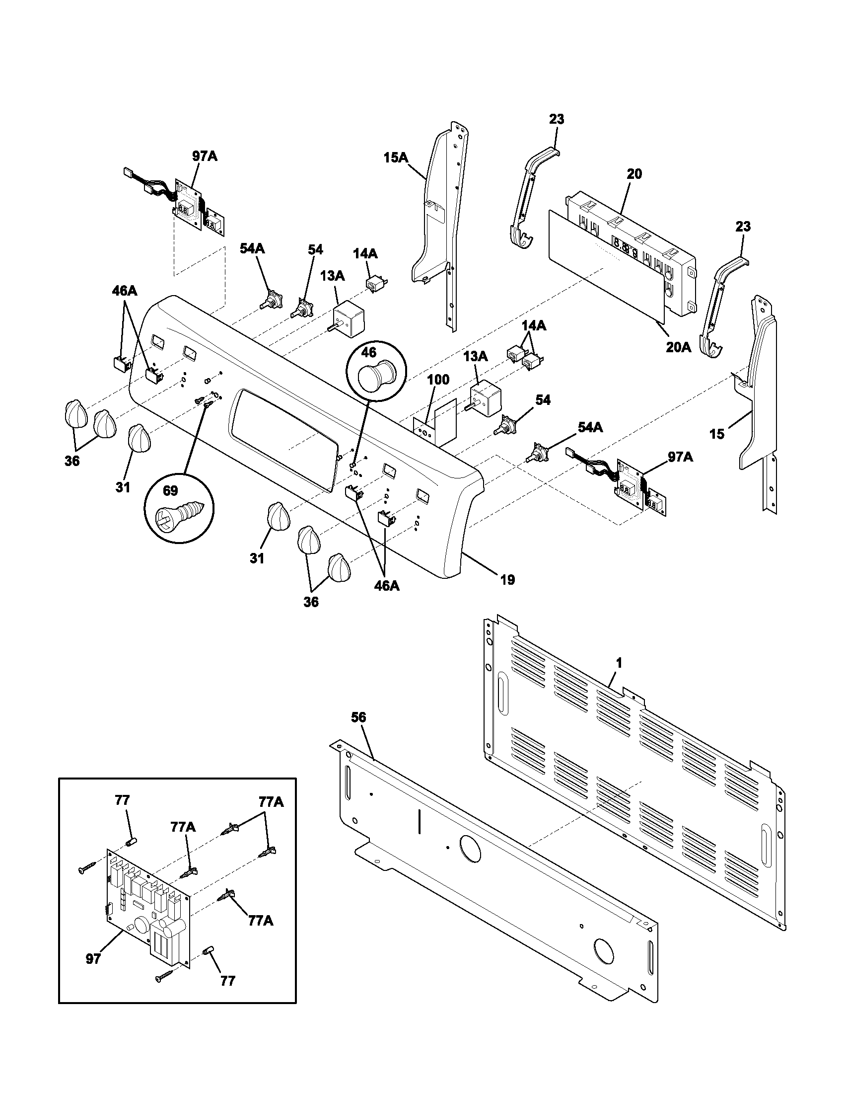 Frigidaire Plef398ccc Electric Range Timer