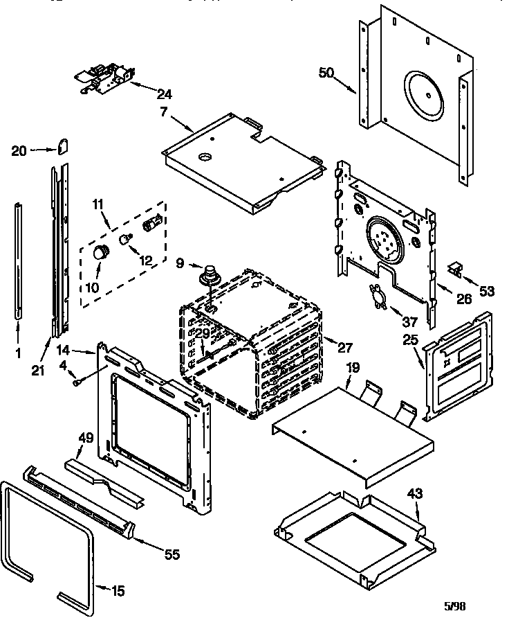 whirlpool wall oven wiring diagrams