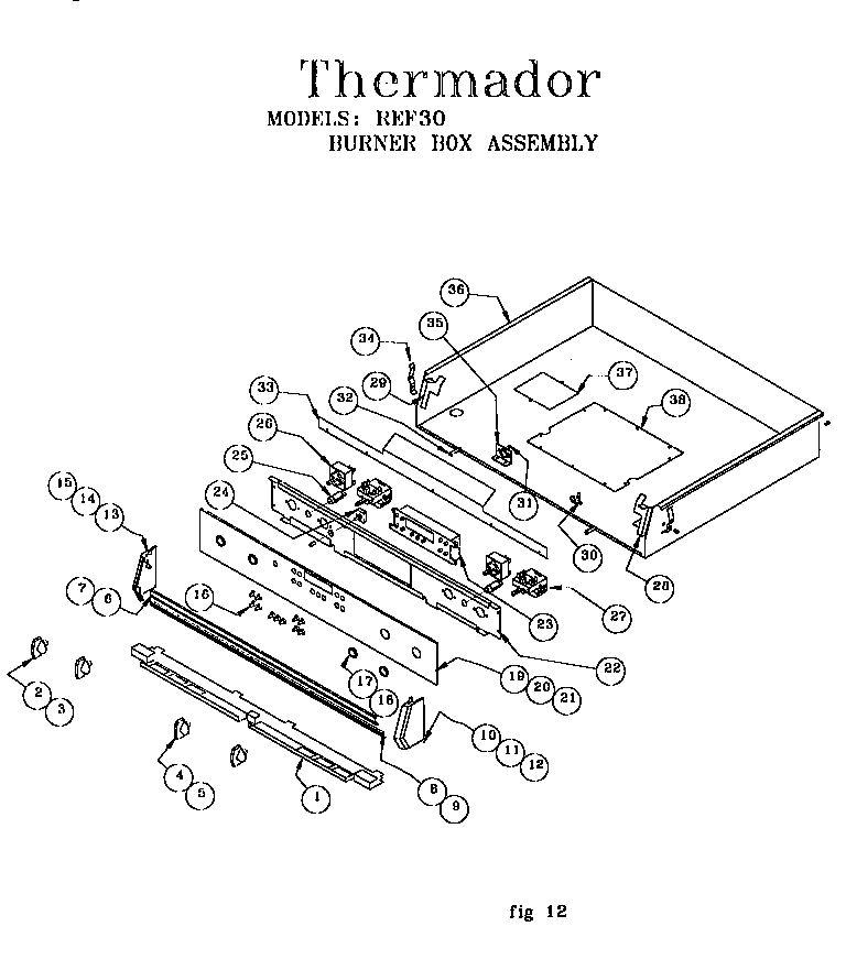 Thermador REF30QW Freestanding Electric Range Timer