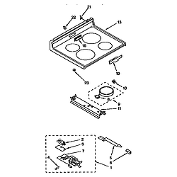 Whirlpool RF364PXYQ3 Electric Free Standing Range Timer