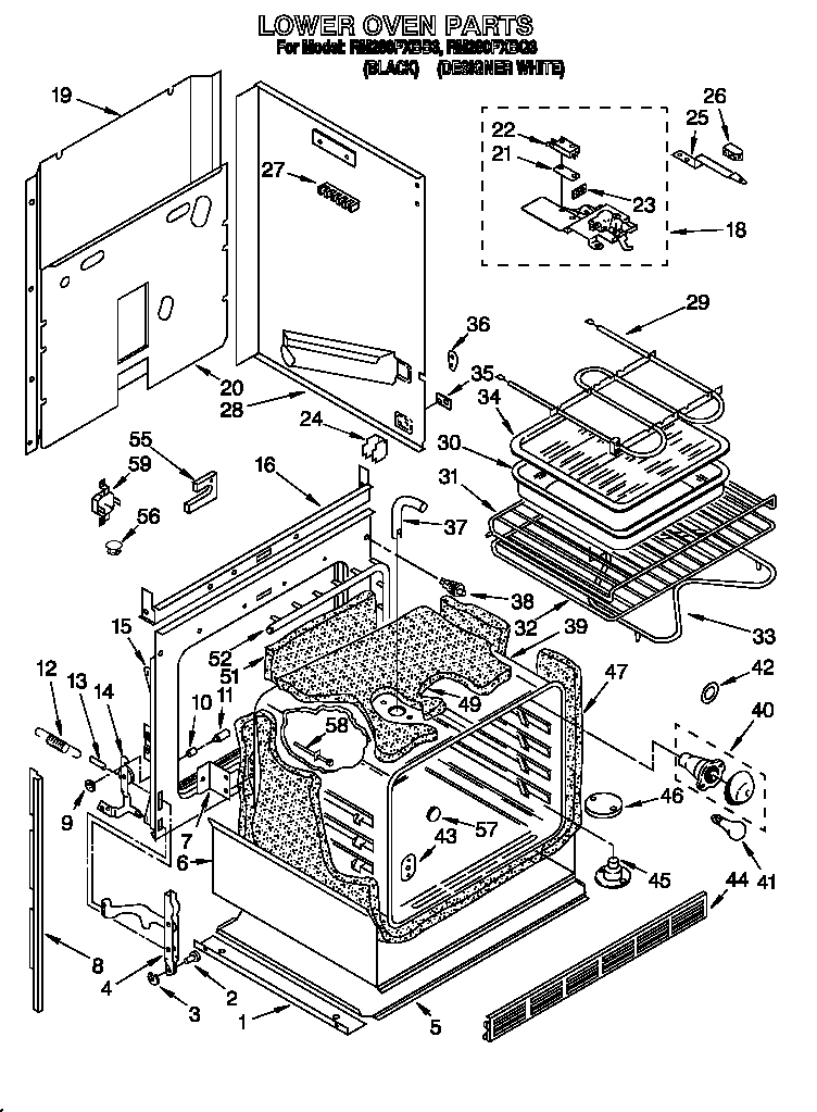 oven wiring diagram