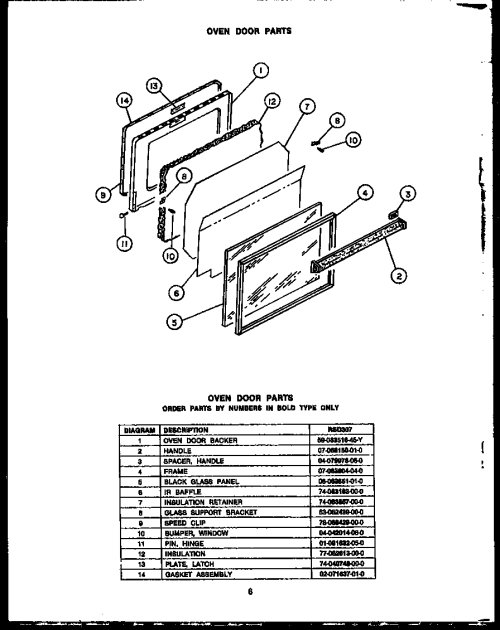 small resolution of rsd30 gas ranges oven door parts diagram