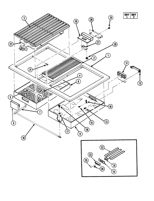 small resolution of s136c range top assembly parts diagram