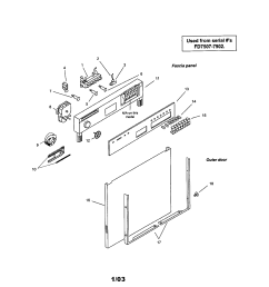 smu7052uc14 dishwasher fascia panel and outer door parts diagram [ 1696 x 2200 Pixel ]