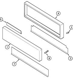 svd48600p gas electric slide in range access panel parts diagram [ 1637 x 1533 Pixel ]