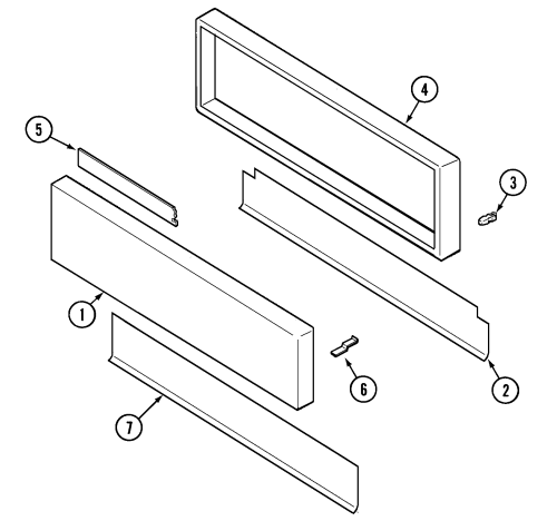 small resolution of svd48600p gas electric slide in range access panel parts diagram