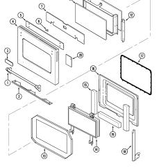 Jenn Air Refrigerator Parts Diagram Cub Cadet Wiring Slt1554 Svd48600p Gas Electric Slide In Range Timer Stove Clocks Door