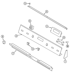 sve47100 electric slide in range control panel parts diagram [ 2025 x 2157 Pixel ]