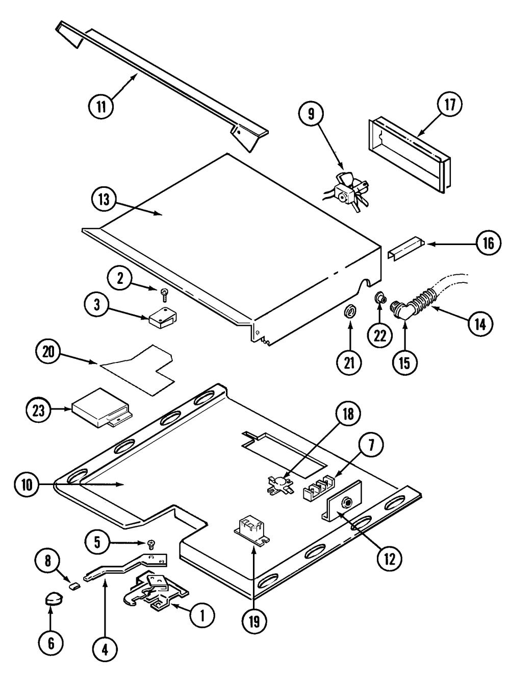 medium resolution of w131b range internal controls parts diagram
