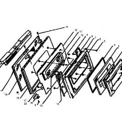w305 oven door assy parts diagram [ 2394 x 2288 Pixel ]