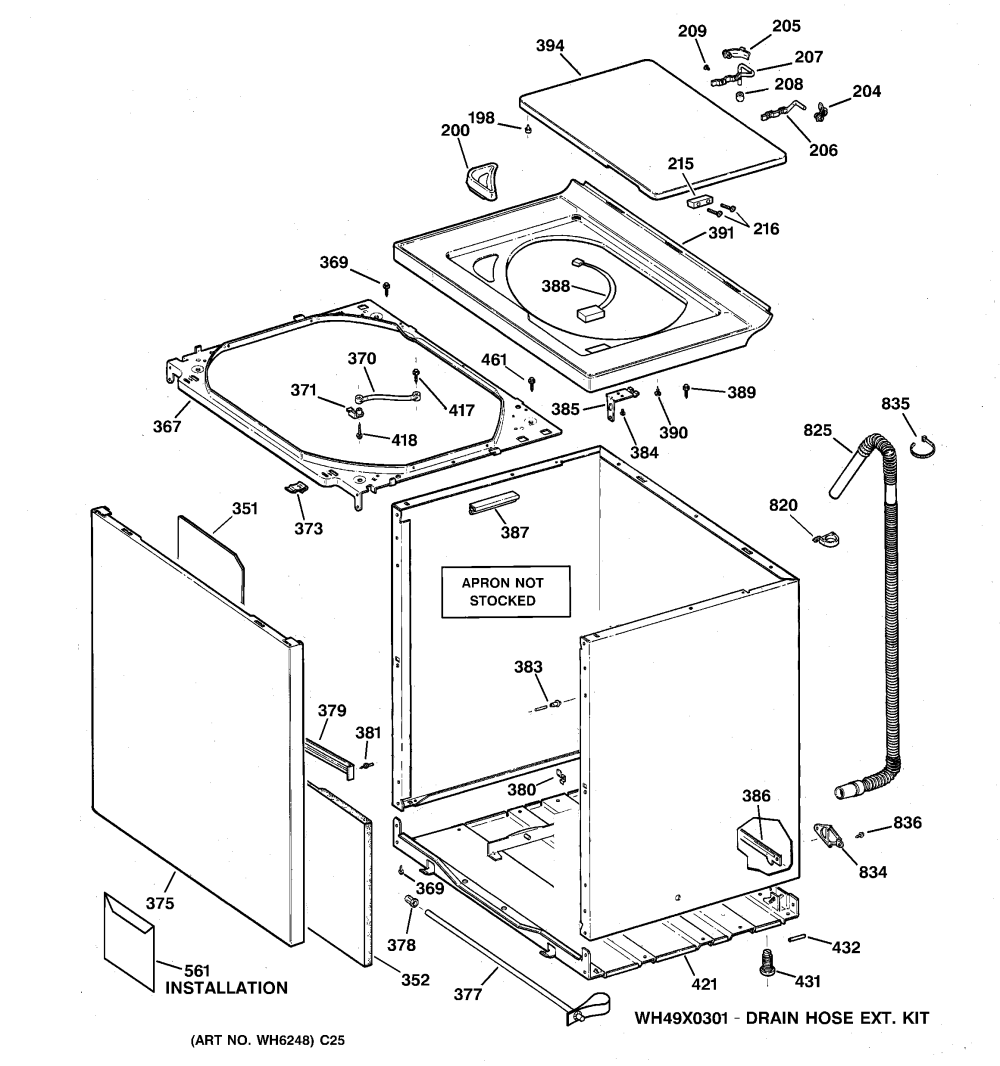 medium resolution of wnsb8060b0ww washer cabinet cover front panel parts diagram