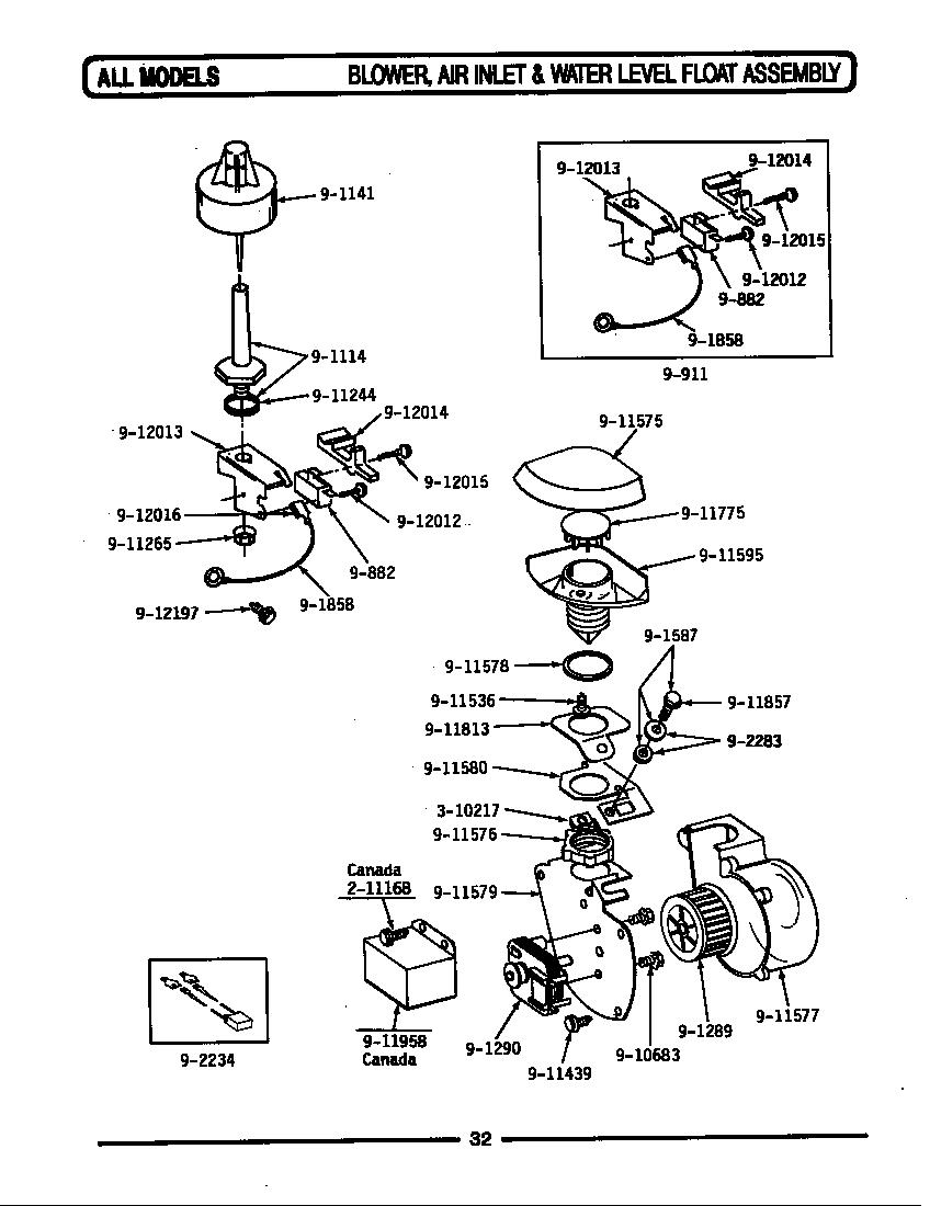 medium resolution of wu502 dishwasher blower air inlet water level float parts diagram installation accessories parts diagram
