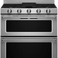 Kitchen Aid Wall Oven Faucets On Sale Kitchenaid Kers505xbl Double Range | Appliance Video
