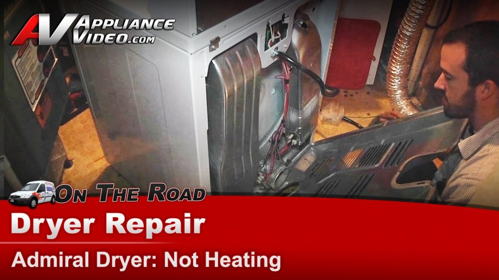 medium resolution of admiral aed4475tq1 dryer repair not heating thermal fuse appliance video